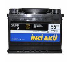 Аккумулятор INCI AKU 55Ah 490A (-/+)